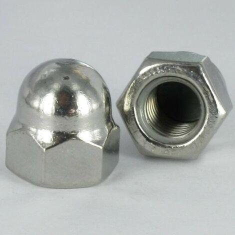 ECROU BORGNE INOX A2 M12 WAX/LUBRIFIE | Conditionnement: 10 pieces