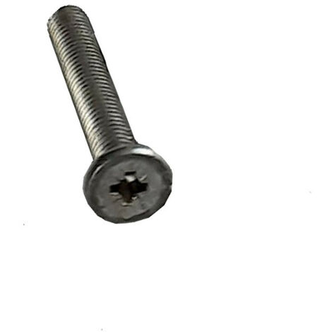 VIS METAUX TETE PLATE POZI M6X38 Diametre de tete: 11 ACIER BRUT   Conditionnement: Unitaire