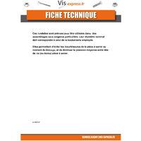 RONDELLE PLATE M4X8X0.8 Z ACIER ZINGUE NOIR | Conditionnement: Unitaire