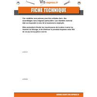 RONDELLE PLATE M5X16X1 L ACIER ZINGUE NOIR   Conditionnement: Unitaire