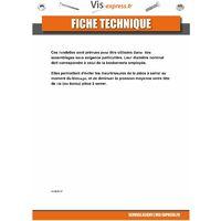RONDELLE PLATE M6X12X1.2 Z ACIER ZINGUE NOIR | Conditionnement: Unitaire