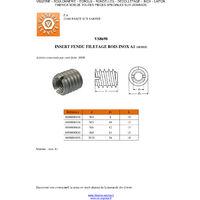 INSERT FENDUE FILETE BOIS M5 10X12 INOX A1   Conditionnement: Unitaire