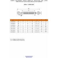 TENDEUR OEIL OEIL M8X120 INOX A4 | Conditionnement: Unitaire