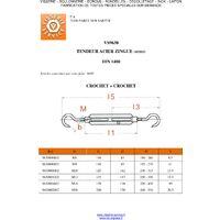 TENDEUR OEIL OEIL 10X125 ACIER ZING BLANC   Conditionnement: Unitaire