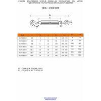 TENDEUR OEIL CROCHET M6X90 INOX A4   Conditionnement: Unitaire