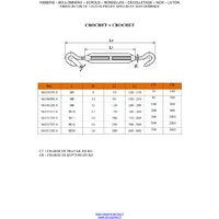 TENDEUR OEIL OEIL M5X70 INOX A4   Conditionnement: Unitaire