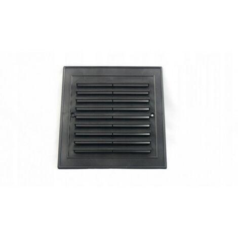 Grille de ventilation noire oblique 14x14