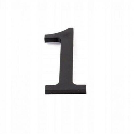 Numéro de maison chiffre maison en plastique noir