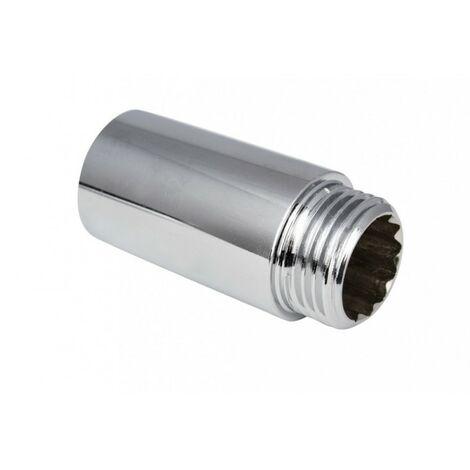Rallonge chromée chromée 1/2 l-15mm connecteur ch,