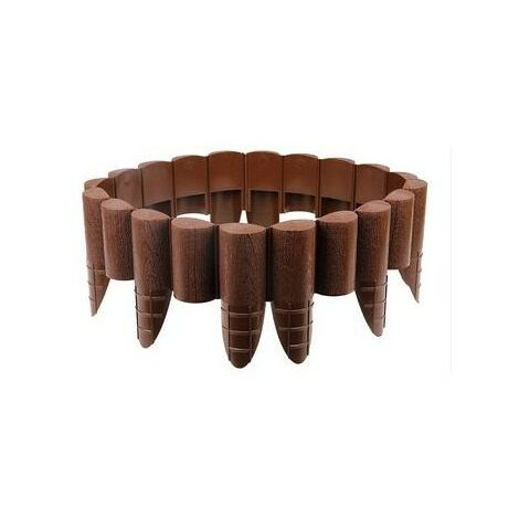 Palissade de jardin 8pcs 85 mm x 2,4 m Cellfast Eco marron