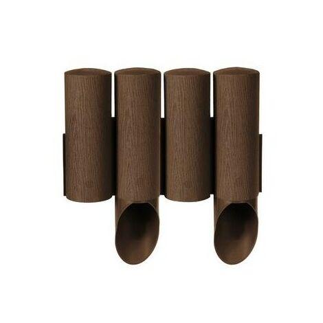 Palissade de jardin plastique effet bois Cellfast 2,3 m marron