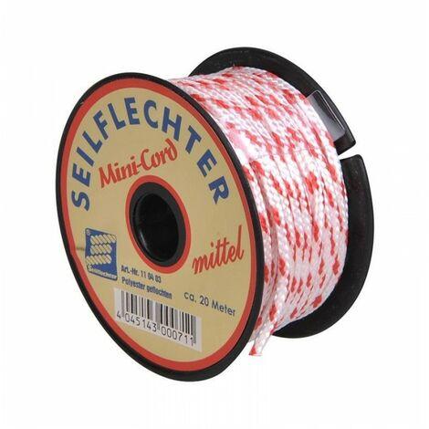 Mini corde Polyester, 3mm, 20m, tressé, assortiment