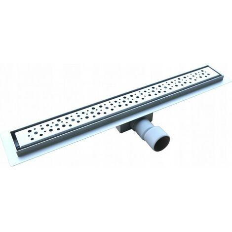 Caniveau de douche linéaire simple 70 cm, acier in