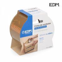 Adhésif d'emballage marron 48 micron 50mx50mm edm