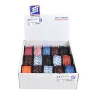 Mini corde Polyester, 3mm, 10m, tressé, assortiment, 380 daN