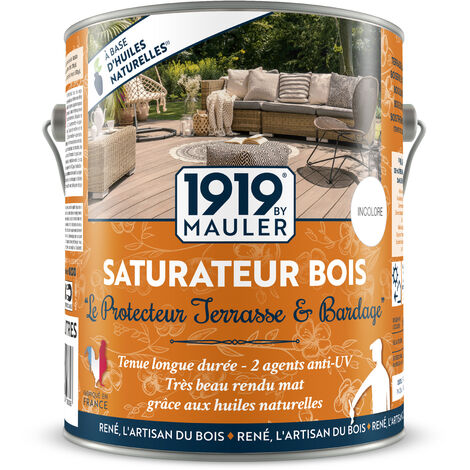 """Saturateur Bois - huile végétale """"Le Protecteur"""" - Chêne Clair 2L5"""