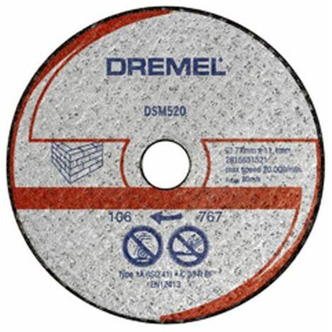 2 disques à tronçonner pour maçonnerie Dremelâ® DSM20 (DSM520)