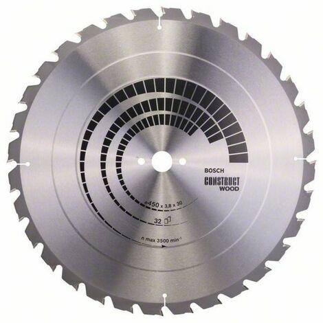 Bosch Lame de scie circulaire Construct Wood 450 x 30 x 3,8/2,5 x 32