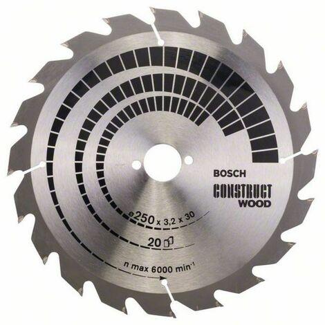 Bosch Lame de scie circulaire Construct Wood 250 x 30 x 3,2/2,2 x 20