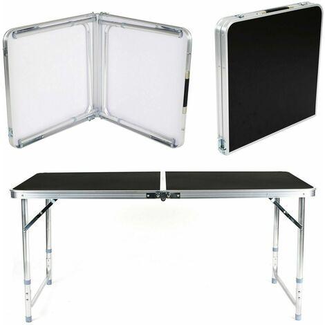 Campingtisch klappbar Alu Koffertisch Klapptisch Buffettisch Gartentisch 120 cm