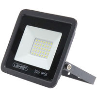 Projecteur LED SMD Lexsir 30W Dimmable IP66 Blanc Froid 6000K | IluminaShop
