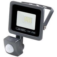 Projecteur LED SMD Lexsir 10W Dimmable avec Détecteur de Mouvement PIR IP66 Blanc Froid 6000K | IluminaShop