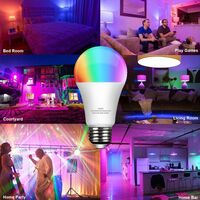 Smart WiFi Light Bulb LED RGB Color Changing Dimmable Light Bulb Works with Alexa Echo Google Home 2PACK