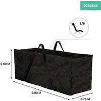 VONROC Premium garden cushion storage bag XL – 200x75x60cm – Protection cover for 6-8 garden cushions