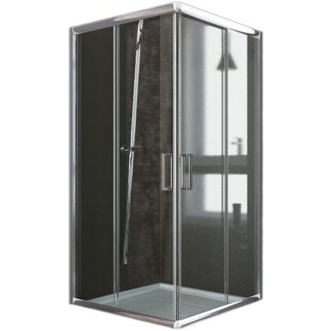 Parois cabine de douche angulaire coulissante verre transparent h 185 mod. Alabama 70x70 cm carré