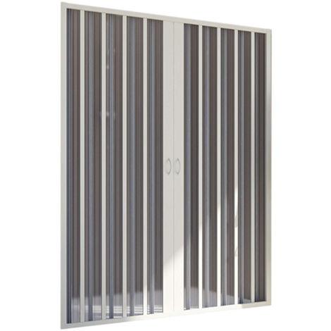 Porte de douche en PVC 110CM H185 pliante avec Ouverture Centrale couleur Blanche mod. Flex