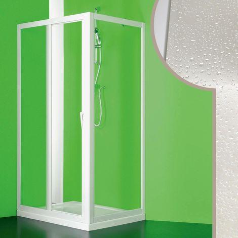 Cabine douche 75x140 CM en acrylique mod. Mercurio avec ouverture centrale