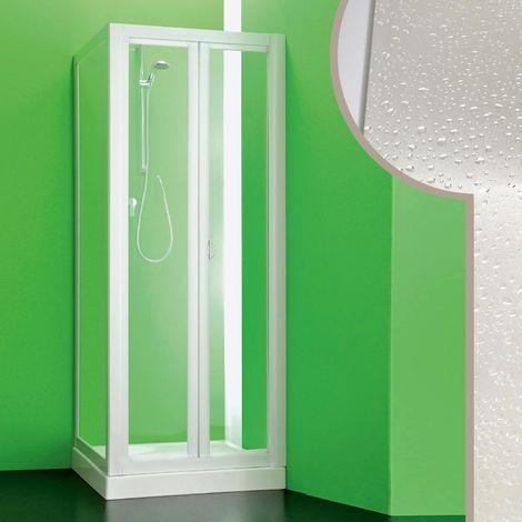 Cabine douche 80x90 CM en acrylique mod. Saturno avec ouverture pliante