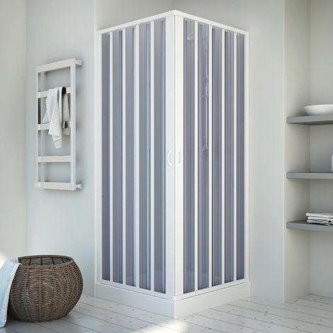 Paroi cabine de douche pvc accordéon h 185 mod. Energy centrale 80x80 cm