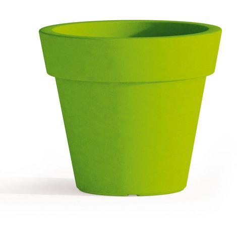 Pot de Fleurs Begonia avec soucoupe en résine Rond H45 Vert Ø 50Cm