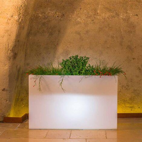 Jardinière Flowerpot en résine Rectangulaire 80X35 CM Lampe Blanche