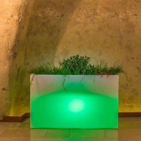 Jardinière Flowerpot en résine Rectangulaire 80X35 CM Lampe Verte
