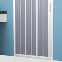 Porte Paroi de douche en PVC 80CM H185 pliante avec ouverture latérale couleur Blanche mod. Flex