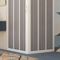 Porte de douche d'angle en PVC 80x80CM H185 avec Ouverture Centrale couleure Blanche mod. Flex