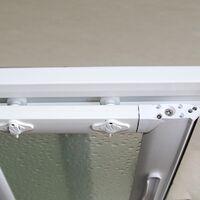Cabine douche Pare-Baignoire 80x140 CM en acrylique mod. Plutone avec ouverture centrale