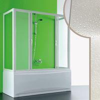 Cabine douche 3 côtés Pare-Baignoire 80x140x80 CM en acrylique mod. Plutone 2 avec ouverture centrale