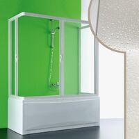 Cabine douche 3 côtés Pare-Baignoire 80x160x80 CM en acrylique mod. Nettuno avec ouverture centrale