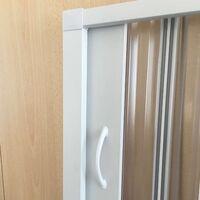 Cabine douche 80x100CM H185 en Plastique pvc modèle Energy avec l'ouverture latérale