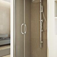 Parois cabine de douche coulissante rectangulaire verre transparent h 185 mod. Replay Duo 2 portes 70X120 cm