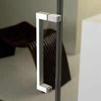Cabine Douche en PVC 80x100 CM Hauteur 190 Transparent mod. Lite Profil Blanc