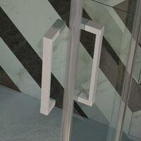 Cabine Douche en PVC 90x90 CM Hauteur 190 Transparent mod. Lite Profil Blanc