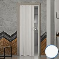 Porte pliante accordéon intérieur en pvc 83x214 cm mod. Monica blanc pastel