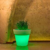 Pot de Fleurs Begonia en résine Rond H45 Lampe Verte Ø 50Cm