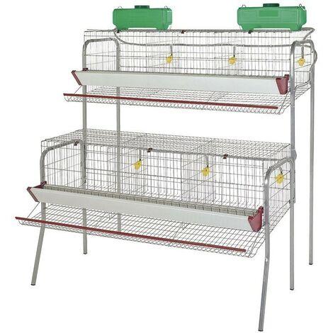 Batterie pour 30 poules pondeuses en 6 départements 155x110x150 cm