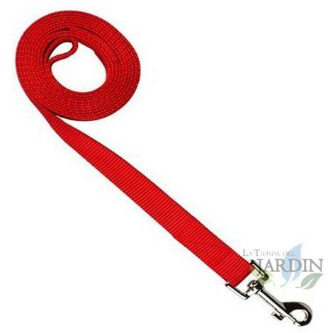 Laisse nylon pour chiens 150cm rouge
