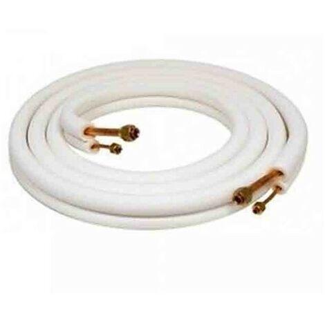 """3 m 1/4"""" x 1/2"""" double tube cuivre isolé 3 m 1/4 """"x 3/8"""" double isolation cuivre tube pour climatisation"""